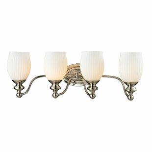 Compare prices Hamman 4-Light Vanity Light By Alcott Hill