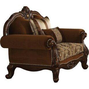 Sweatt Fabric Upholstery Rolled Arm Armchair with 2 Pillows by Astoria Grand