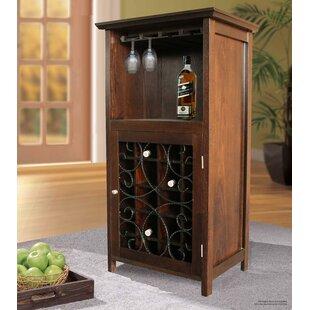 Sheryl 20 Bottle Floor Wine Cabinet & Bar Cabinet With Wine Fridge | Wayfair