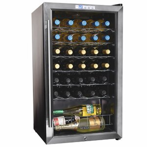 33 Bottle Single Zone Freestanding Wine Cooler