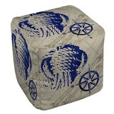 Clermont Cube Ottoman by Breakwater Bay
