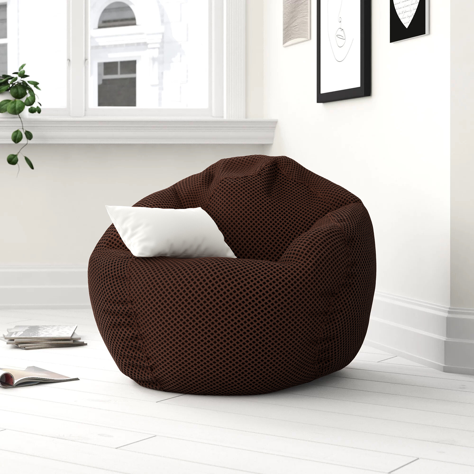 Zipcode Design Standard Bean Bag Chair Lounger Reviews