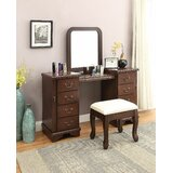 Henton Vanity Set with Stool and Mirror by Canora Grey