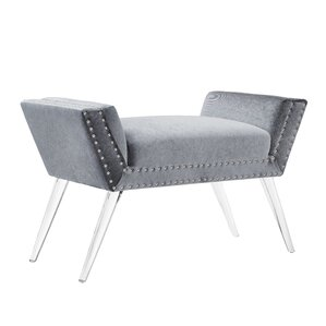 Selznick Upholstered Bench With Acrylic Leg