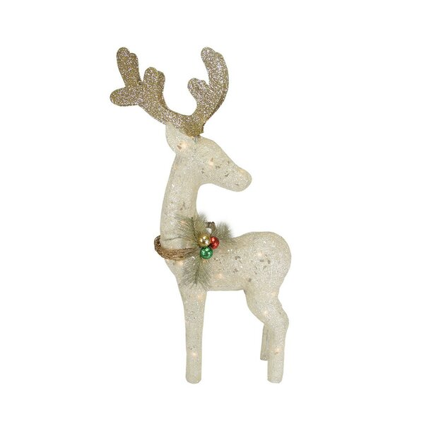 white reindeer christmas decor wayfair - White Deer Christmas Decoration
