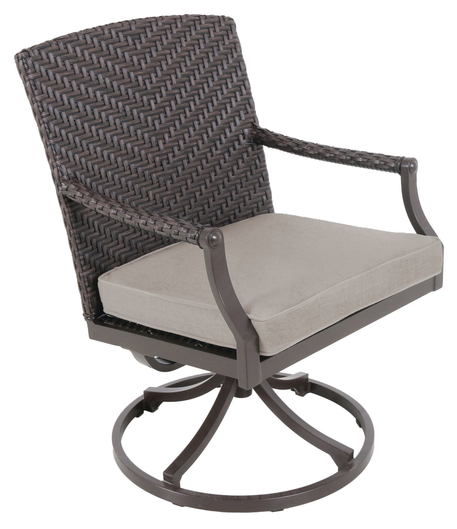 Red Barrel Studio Kanzler Aluminum Outdoor Wicker Swivel Patio Dining Chair with Cushion | Wayfair  sc 1 st  Wayfair & Red Barrel Studio Kanzler Aluminum Outdoor Wicker Swivel Patio ...
