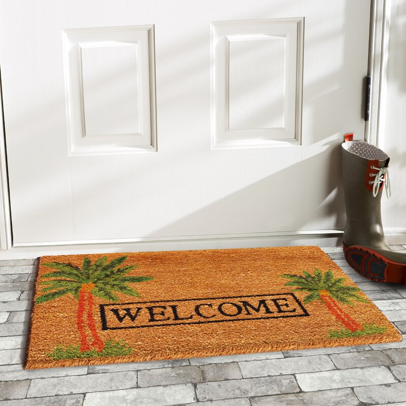 Dollhouse miniature Gone Sailing wreath /& Welcome Aboard welcome mat,front door