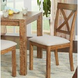 Dessie Upholstered Cross Back Side Chair (Set of 2) by Gracie Oaks