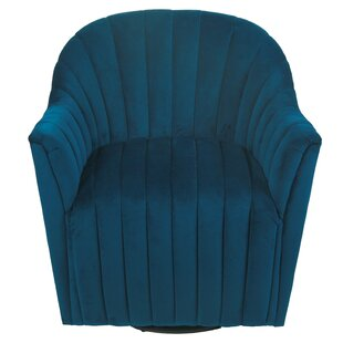 Everly Quinn Finnley Swivel Barrel Chair