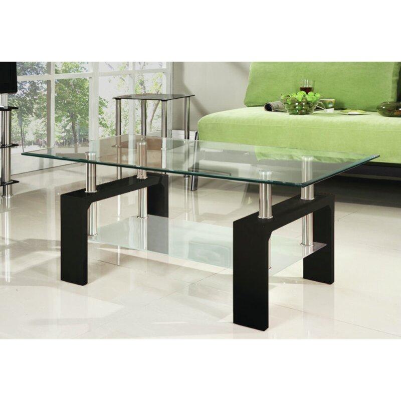 Brayden Studio® Cao Tempered Glass Coffee Table Wayfair