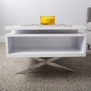 Seraphina White Lift Top Rectangular Coffee Table