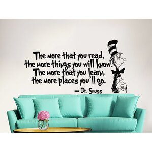 dr seuss the more that you read decal quote sayings wall decal - Wall Decals