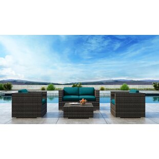 Gilleland 4 Piece Sofa Set with Sunbrella Cushion