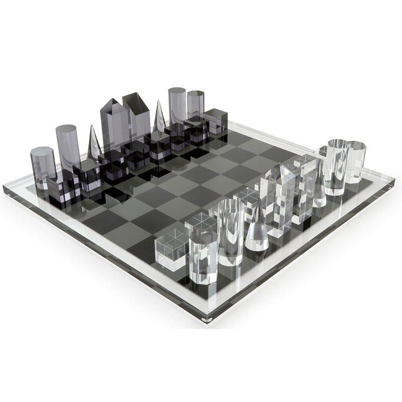 Tizo Lucite Chess Set Reviews Wayfair