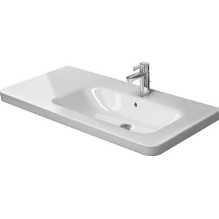 Great Price DuraStyle Ceramic 40 Wall Mount Bathroom Sink with Overflow By Duravit