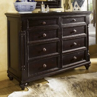 Tommy Bahama Home Kingstown Stony Point 8 Drawer Media Double Dresser