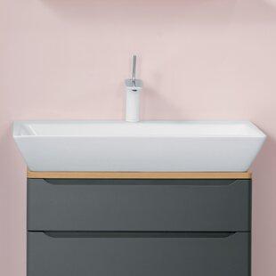 Ronbow Wide Ceramic Rectangular Vessel Bathroom Sink