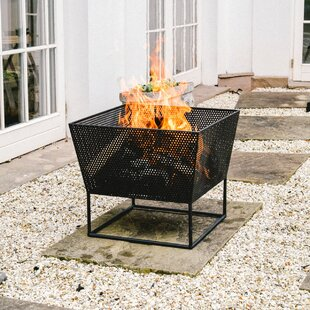Breanna Iron Charcoal/Wood Burning Fire Pit By Freeport Park