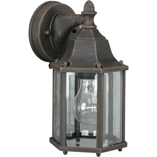 Charlton Home Spradling 1-Light Outdoor Wall Lantern