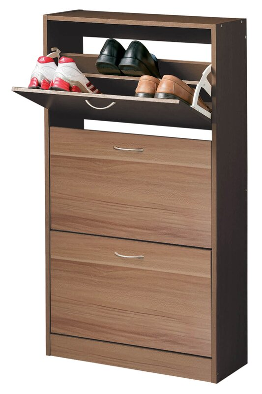 all home schuhschrank in nussbaum bewertungen. Black Bedroom Furniture Sets. Home Design Ideas