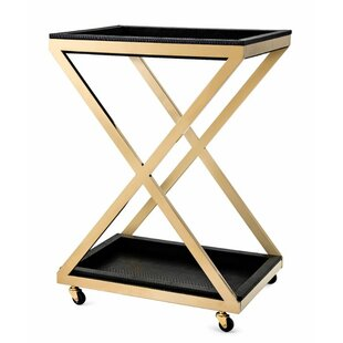 Carmella Metal Bar Cart by Everly Quinn