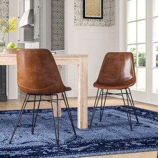 Adrianne PU Leather Upholstered Dining Chair (Set of 2) Mistana