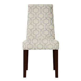 Haddonfield Gray/Beige Fabric Side Chair (Set of 2) by Latitude Run