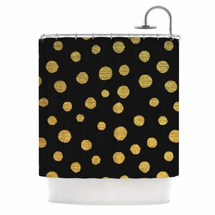 Golden Dots by Nika Martinez Single Shower Curtain