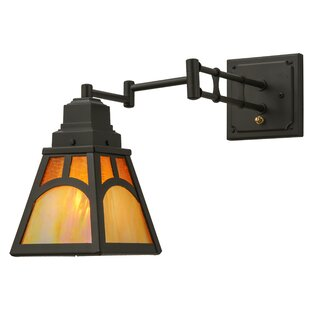 Meyda Tiffany Mission Hill Top 1-Light Swing Arm Lamp