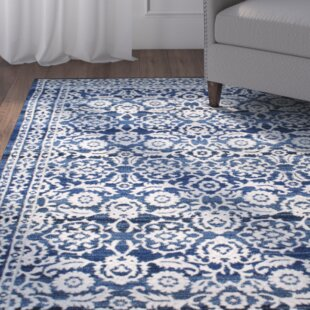 Plumville Blue Rug by Three Posts