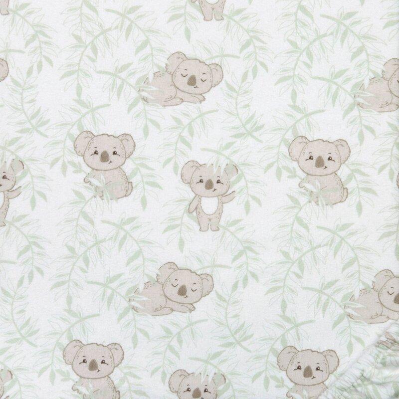 Indigo Safari Koala Vines Flannel Fitted Crib Sheet Wayfair