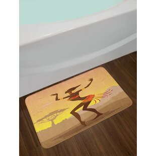 African Ethnic Lady Bath Rug