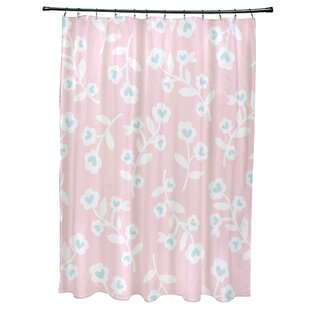 Valentines Floral Single Shower Curtain