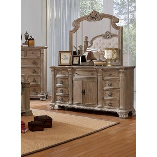 Kaydence 9 Drawer Double Dresser with Mirror by Rosdorf Park
