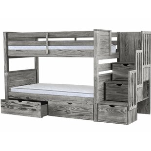 Flitwick Twin over Twin Stairway Bunk Bed with Drawers by Harriet Bee