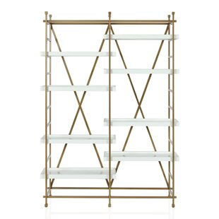 Compare prices Yves Metal Etagere Bookcase by CosmoLiving by Cosmopolitan