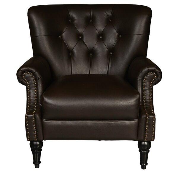 Alcott Hill Cumberland Traditional Button Tufted Club Chair | Wayfair