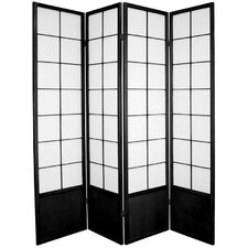 70.25 x 56 Asian Zen 4 Panel Room Divider by Oriental Furniture