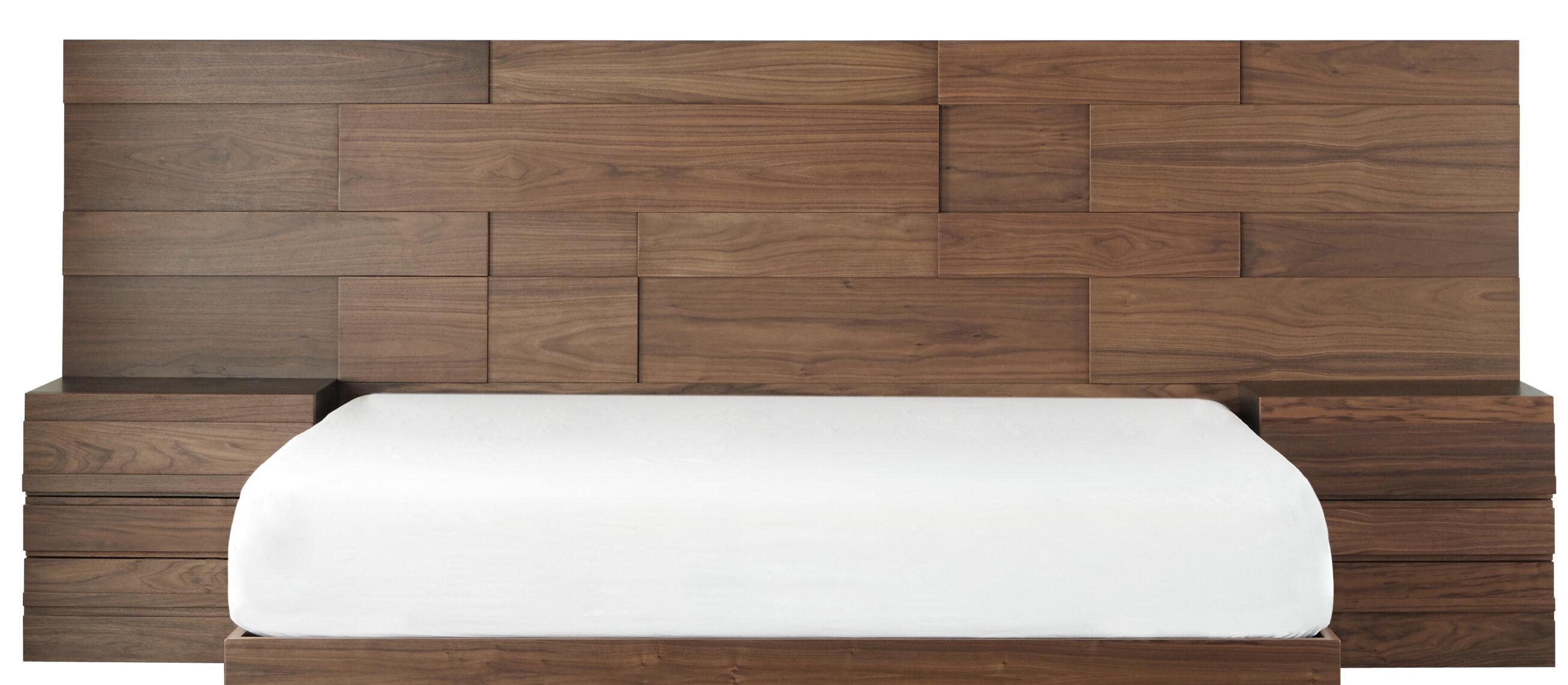 Corrigan Studio Walnut Wood King Size Headboard Extensions 23 6 X 31 5 Wayfair Ca
