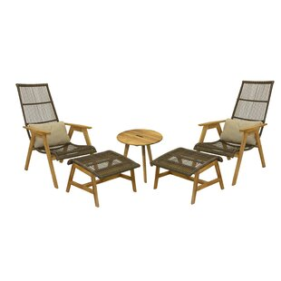 Largent 5 Piece Teak Conversation Set