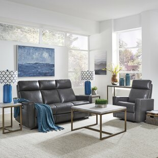 Pell Power Motion Reclining 2 Piece Leather Living Room Set