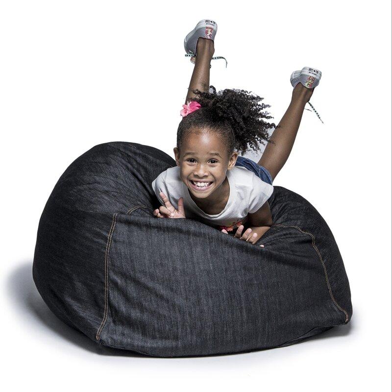 Denim Kids Club 2.5u0027 Bean Bag Chair
