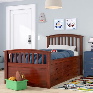 Dolby Twin Slat Bed with Drawers by Harriet Bee