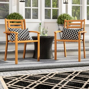 Cadsden Stackable Arm Chair (Set of 2)