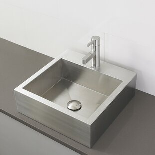 Price Check Crofton Metal Rectangular Vessel Bathroom Sink with Overflow By DECOLAV