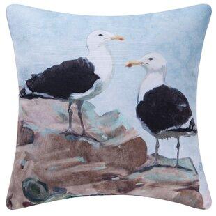 Sea gull outdoor lighting wayfair seagulls indooroutdoor throw pillow aloadofball Gallery
