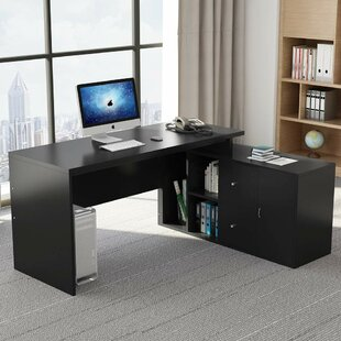 Farnborough L Shape Computer Desk by Ebern Designs Office Furniture