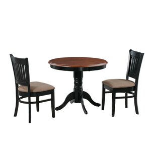 Corcoran 3 Piece Solid Wood Dining Set
