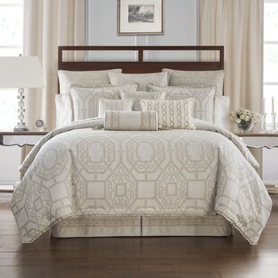 Lancaster 4 Piece Reversible Comforter Set by Waterford Bedding
