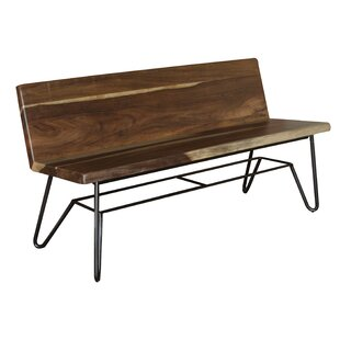 Culpeper Wood Bench With Back Rest